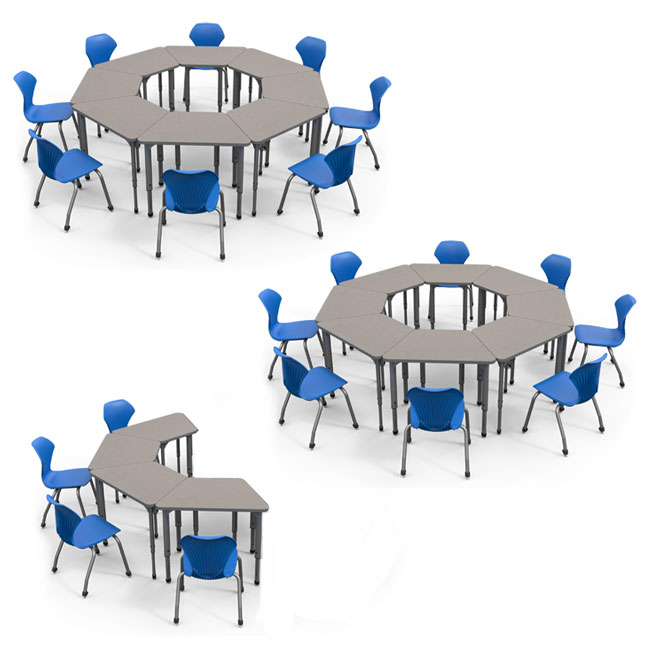 Collaborative Classroom Desk Set