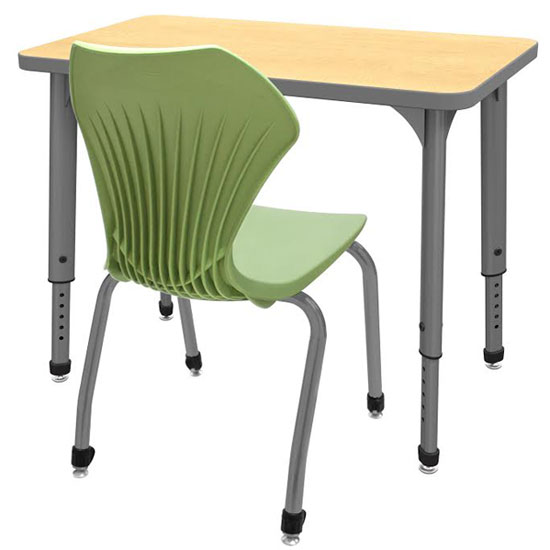 Classroom Table And Chairs marco group classroom set- 20 apex single student desks & chairs