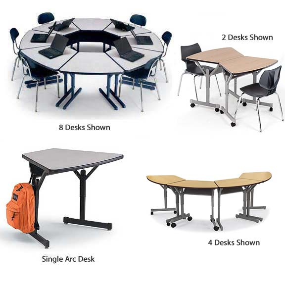 Collaborative Student Desks ~ Smith system mini arc desk quot d collaborative