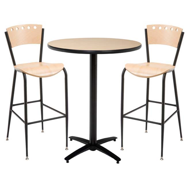 arched-base-bar-height-cafe-table-with-two-br3818a-barstools-by-kfi