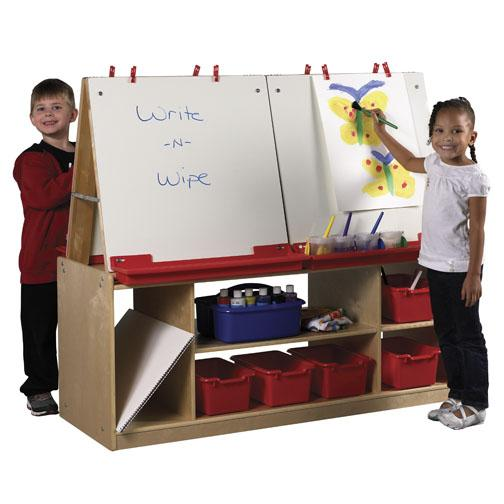 elr-0692-art-easel-w-storage-4-station