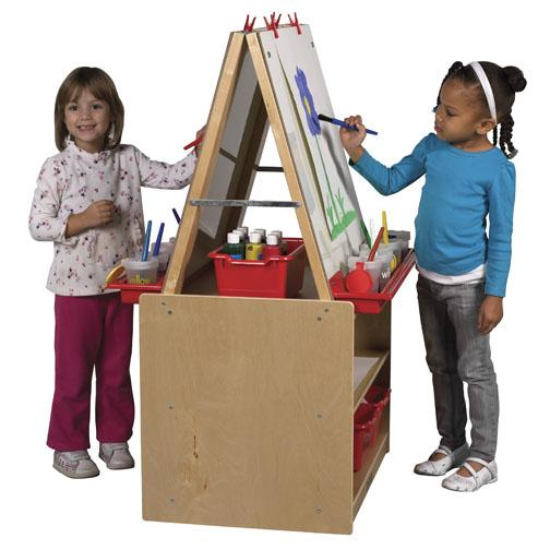 elr-0691-art-easel-w-storage-2-station