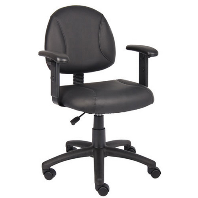 b306-leatherplus-deluxe-posture-chair-w-adjustable-arms