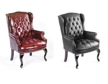 800 Series Button Tufted Guest Chair By Boss, B809   Stock #28323