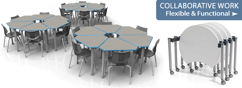 Collaborative Desks & Tables for Flexible Classroom Layouts!