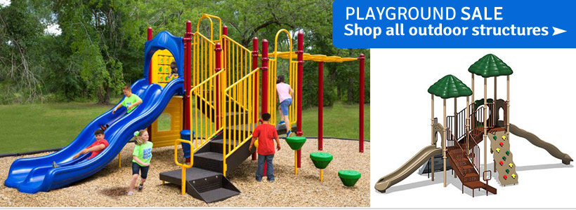 Playground Structures and Equipment Now on Sale!