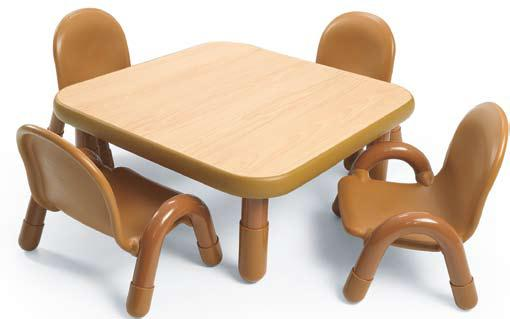 "Angeles Baseline Toddler Table & Chair Set 30"" Square"