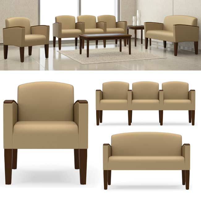 All Belmont Series Reception Seating By Lesro Options | Chairs ...
