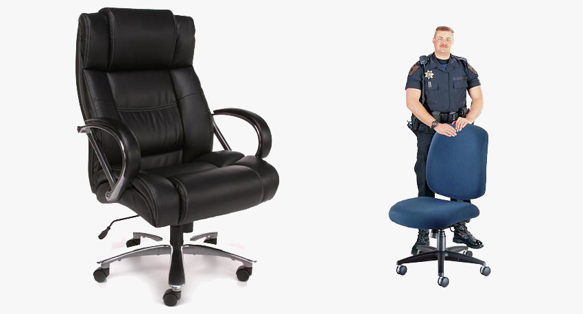 Big and Tall Office Chairs are Oversized with extra Weight Capacity