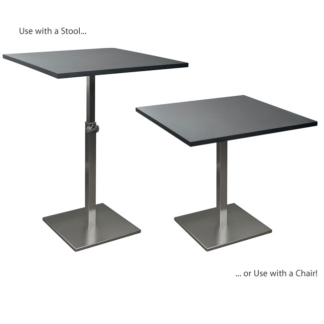 Balt Height Adjustable Bistro Table Café Tables - Adjustable height cafe table