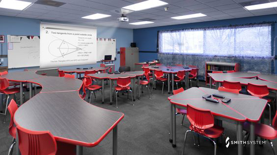 For The Most Part, The Days Of Neat Rows Of Carefully Arranged Desks Are  Gone. Instead, Teachers Favor More Collaborative Arrangements Such As Desk  Clumps, ...