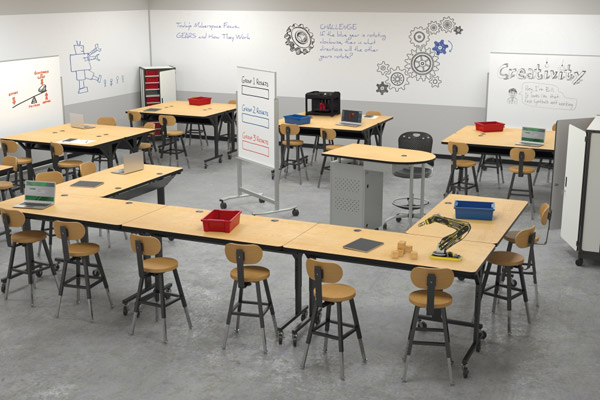 Modern Classroom Desks ~ Classroom design elements to inspire productivity — school
