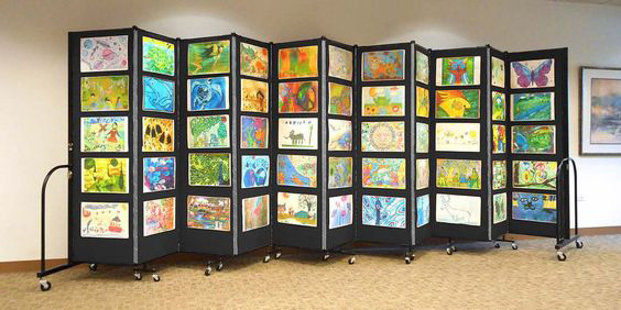 How to get the most out of your screenflex partitions for Display walls for art shows