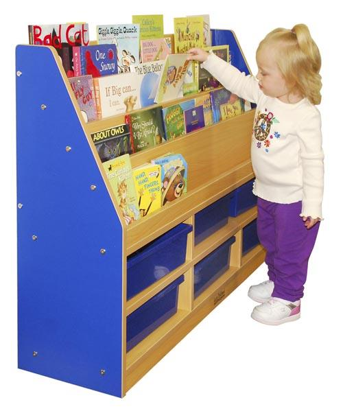 colorful-essentials-book-display-w-storage-by-ecr4kids