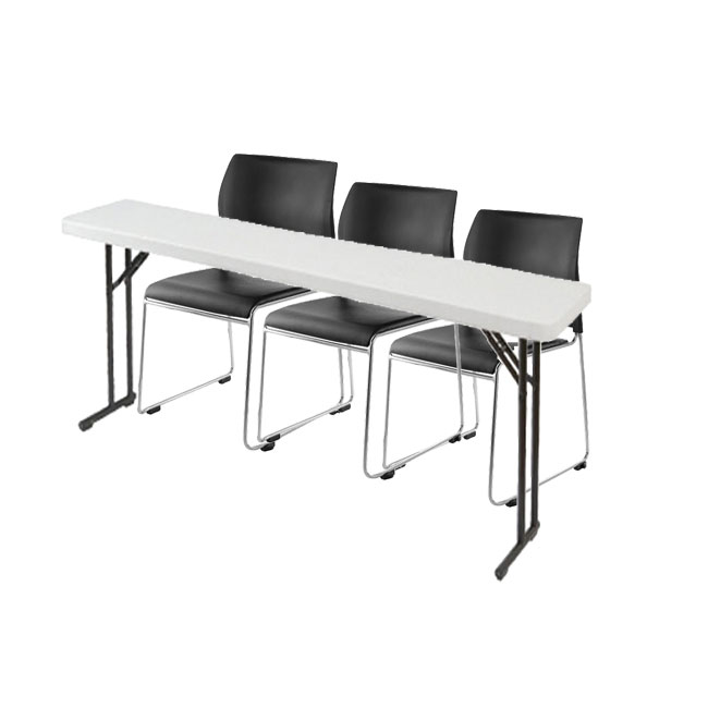 8704-3-bt1872-x-plastic-resin-seminar-folding-table-18-x-72-with-three-sled-base-stack-chairs