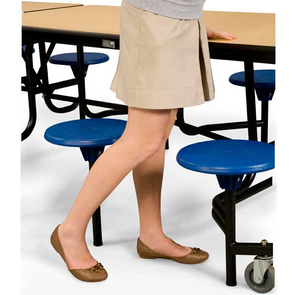 Cafeteria Table Stool Access Space