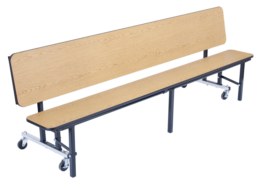 National public seating mobile convertible bench table w protectedge 8 39 l cbg96 mdpepc Convertible bench
