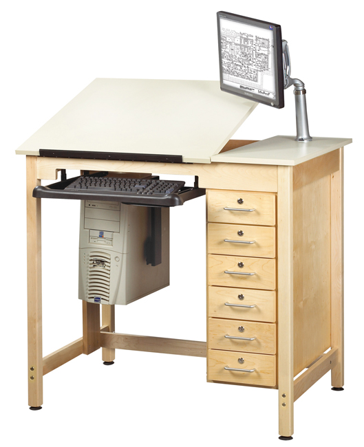cdtc-71-split-top-school-cad-drawing-computer-table-w-drawers-by-shain