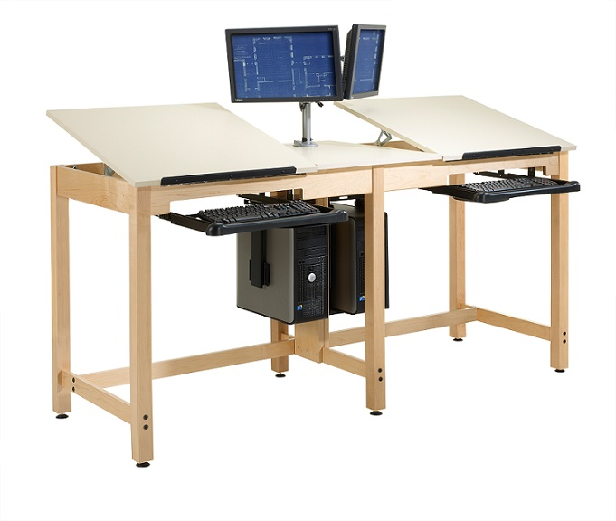 Merveilleux Cdtc 73 Two Station Cpu Drafting Table