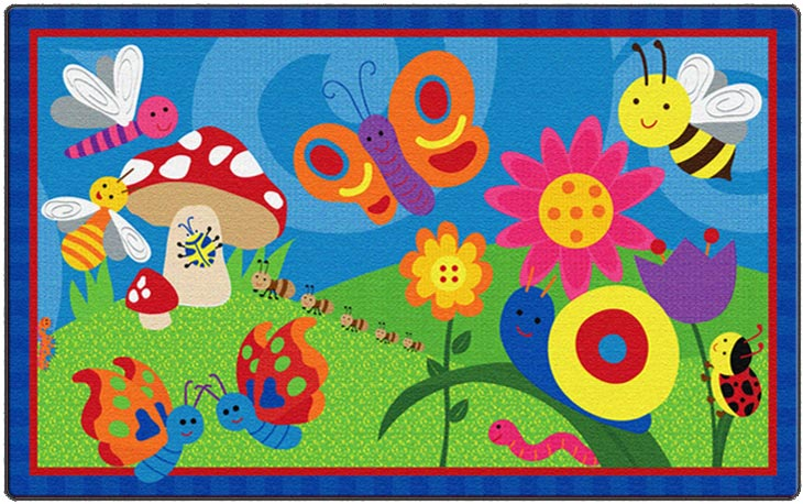 Flagship Carpets Cutie Bugs- Ce419-12w | Animals & Nature Rugs ...
