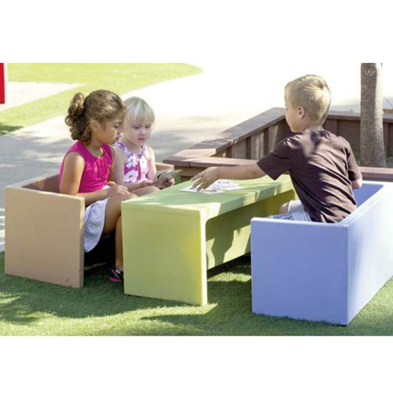 stock childrens factory cf910073 cozy woodland adaptabench set of 3 - Childrens Factory