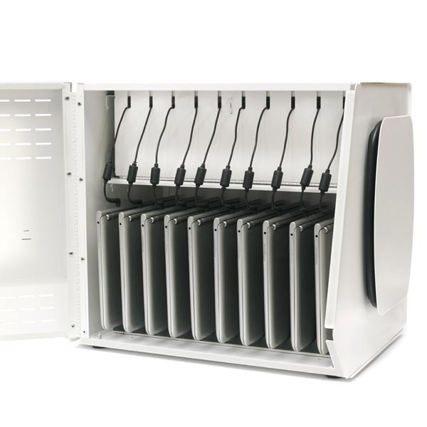 laptop storage rack bretford 10s mobile device charging cabinet 22463
