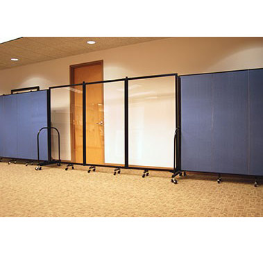 Screenflex Clear Acrylic Room Divider 3 Panel 10 L Crd3