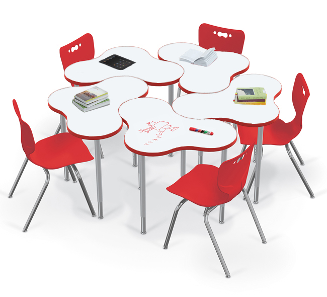 Cloud desks with White Dry Erase Markerboard Tops from Balt