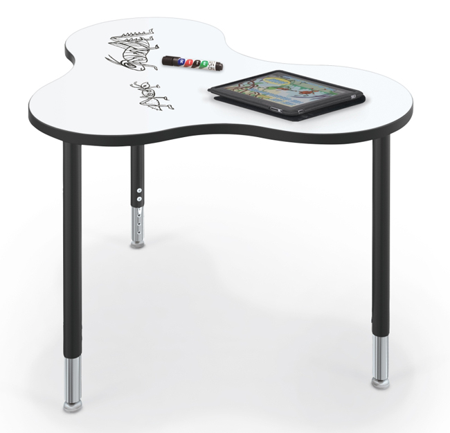 Collaborative Student Desks ~ All cloud collaborative student station with dry erase