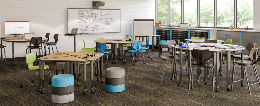 Classroom with Collaborative Desks