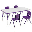 Color Banded School Activity Tables by Scholar Craft
