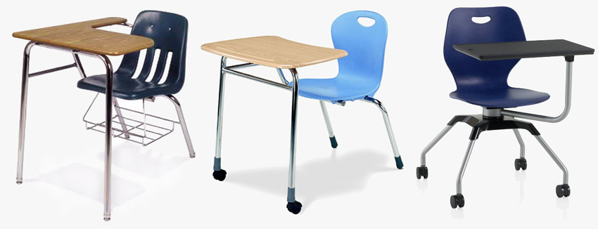 Types of School Combo Desk Chairs