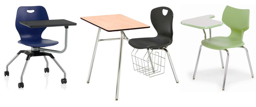 Types of Combination School Chair Desks