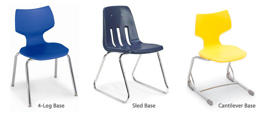Common School Chair Base Styles