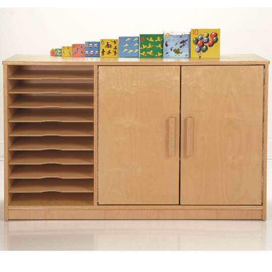 Art Paper Storage Cabinet by Whitney Plus CH0500 - Stock #18193 & Whitney Plus Art Paper Storage Cabinet - Ch0500 | Early Childhood ...