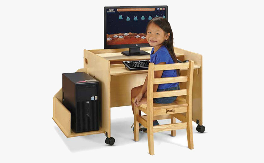 Computer Desk with space for all computer accessories