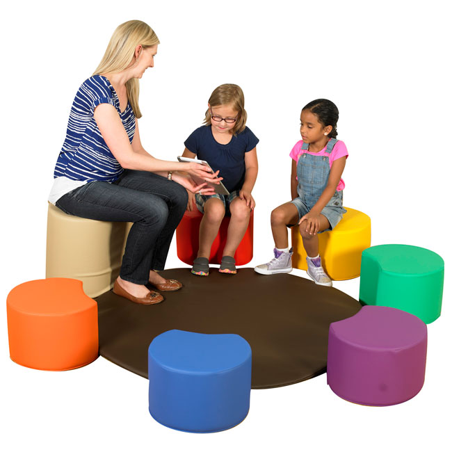 Painters Soft Seating Stool Set by Children's Factory
