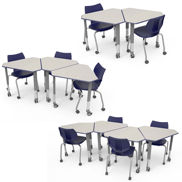 Collaborative Student Desks ~ Smith system diamond desk  collaborative desks