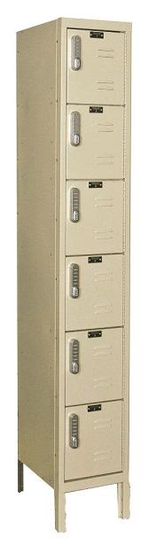 uel1228-6-digitech-six-tier-1-wide-lockers-w-electronic-lock-unassembled-12-w-x-12-d-x-12-h