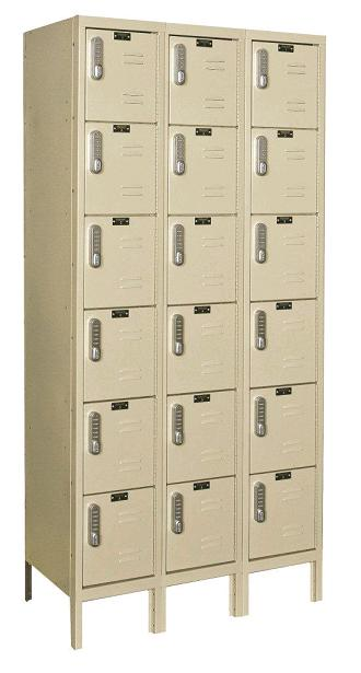 digitech-six-tier-3-wide-lockers-w-electronic-lock-by-hallowell