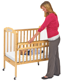 Example of a Drop Gate Crib