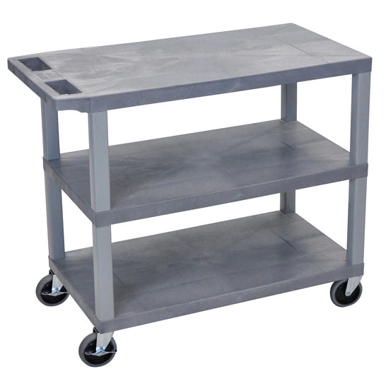 ec222-g-e-series-flat-shelf-cart-standard-w-3-shelves-gray