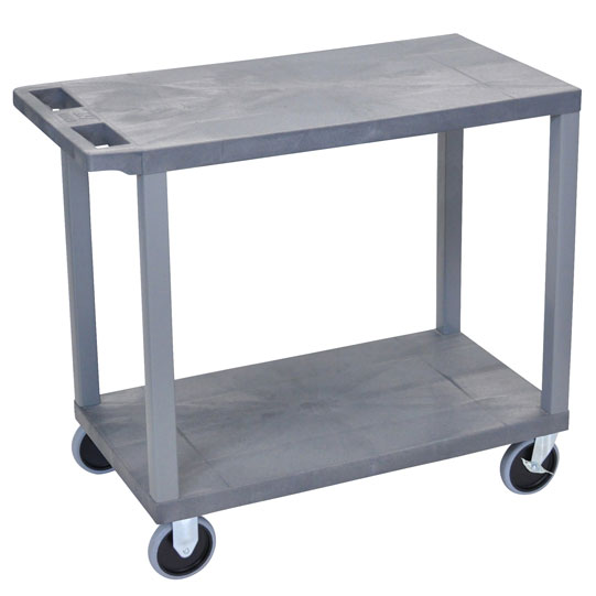 ec22hd-g-e-series-flat-shelf-cart-heavy-duty-w-2-shelves-gray