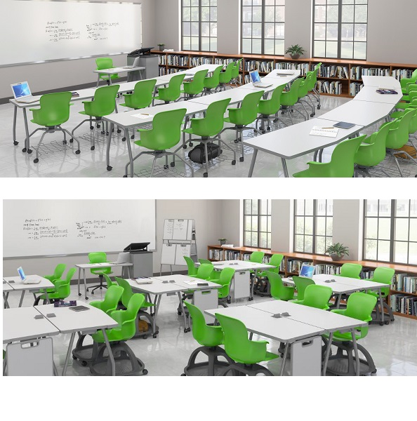Dry Erase Rectangle Training Tables by Haskell