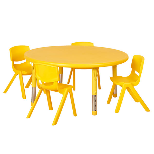 Ecr4kids Four 12 Plastic Resin Chairs With One