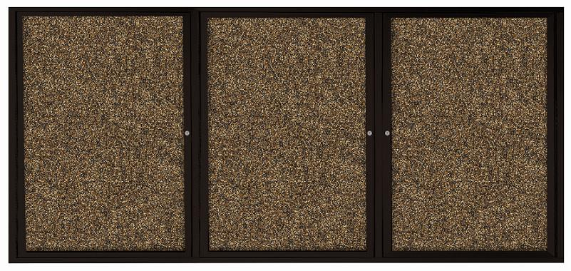 94pc2i-indoor-enclosed-bulletin-board-w3-doors-coffee-aluminum-72-w-x-36-h