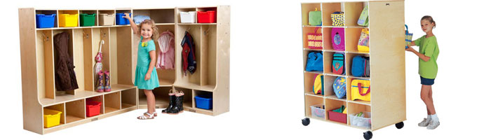 Examples of Preschool Kid's Storage