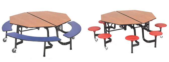 Octagonal Cafeteria Tables