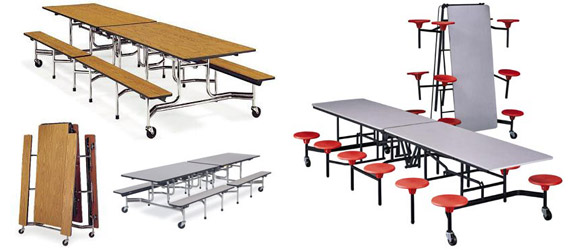 Rectangular Cafeteria Tables