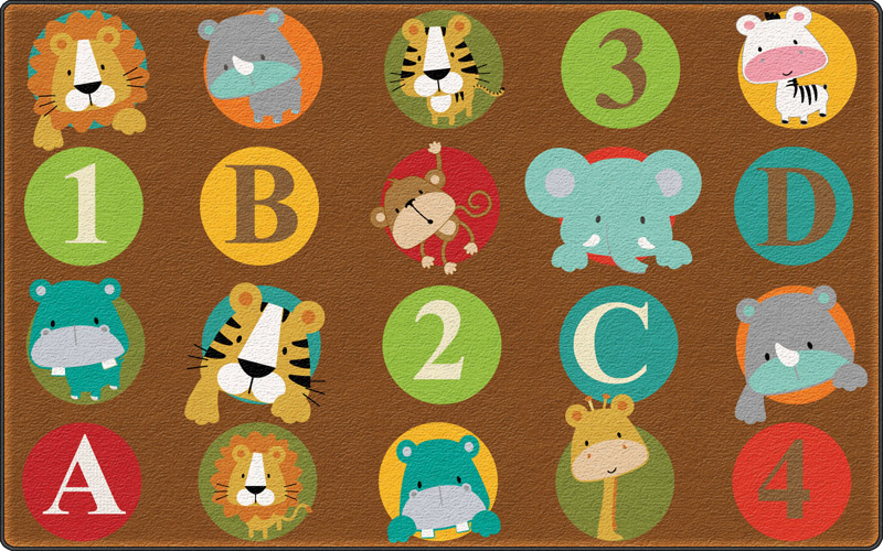 ABC and 123 Animals Carpet